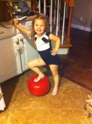 Ava Dove on her first day of gymnastics!!