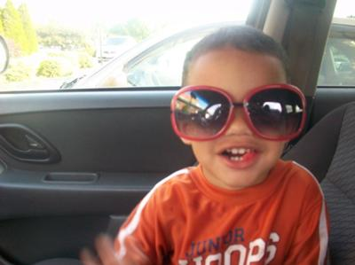 Stunting his shades