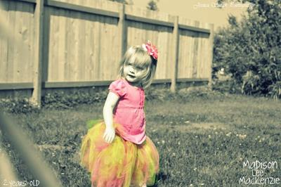 Madison Lee Mackenzie in her tutu from her Grandma.
