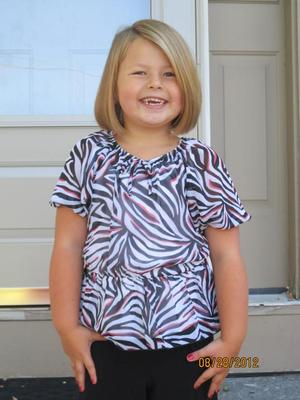 Stella's first day of 1st grade
