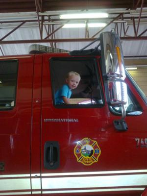 Janco and his Fire Brigade Truck