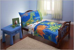 Everything Kids 4 Piece Toddler Dinosaur Bed Sheet Set